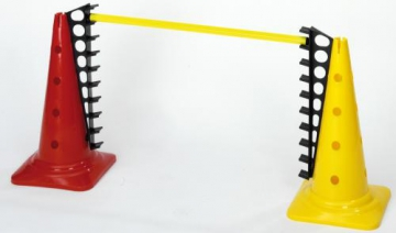 Cone with holes - 50 cm - Yellow