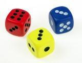 Foam Dots Dice - set of 3