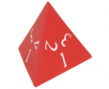 Number dice 1 - 4 - Tetrahedron