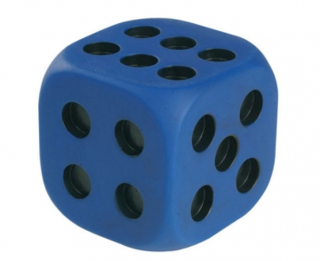 Dots dice blue - with intended dots