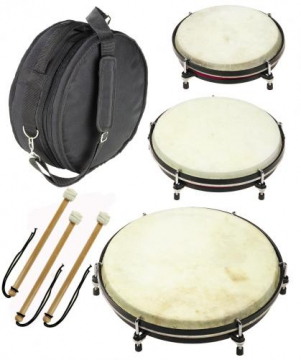 Set of 3 hand drums