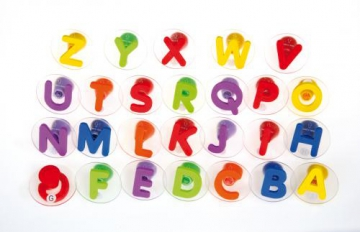 26 giant Alphabet Stamps in plastic tray
