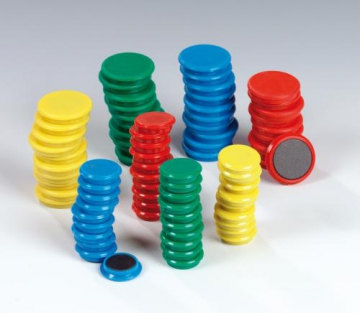 Magnets  30 mm - 4 colours - in PB
