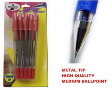 Set of 10 ballpens, red