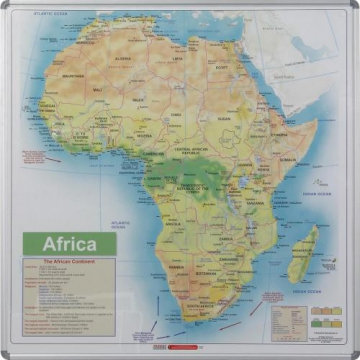 Whiteboard Magnetic Map Africa Side Panel A