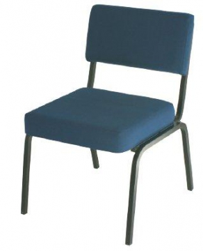 Teacher's Chair without arms, Blue 45 cm H