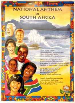 Big Poster National Anthem South Africa