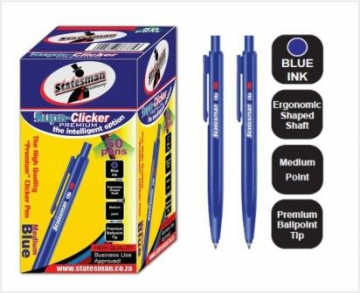Ball point pen, Blue ink, pack of 50