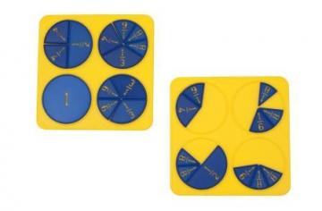 Set 2: 20 Fraction Boards, set of 2
