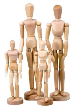 Wooden Manikin Female 8 inch