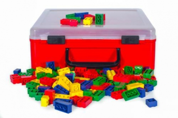 Basic Interlocking Blocks in Suitcase