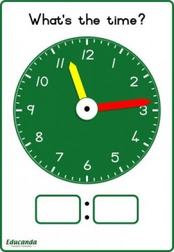 Learner's Clock A4 (set of 5)