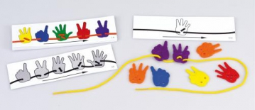 16 Work cards lacing hands