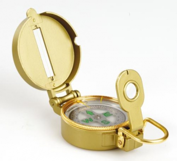 Compass in metal box