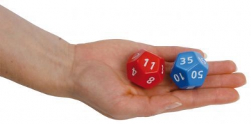 20-sided dice blue/10