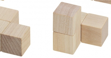 Wooden Cubes in Box