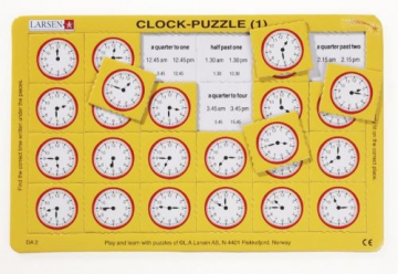 Clock puzzle 1+2, what time is it?