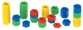Colourful weights - set of 54