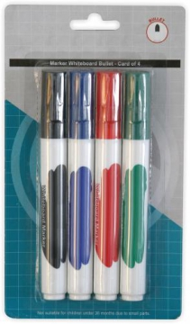 4 Whiteboard Markers
