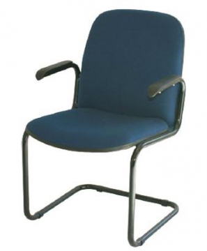 Comfortable Teacher´s chair with arms blue 45
