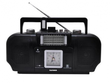 Radio with Cassette, Clock, 2 USB Inputs