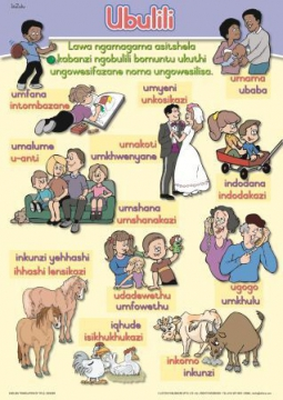 Isizulu Language Wall Chart Set Gr 4-6