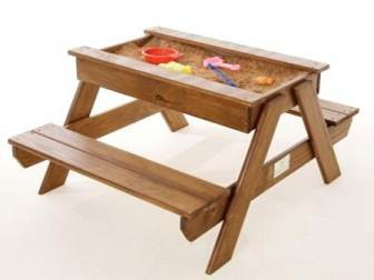 Outstanding Picnic Table With Sandpit Tray Educanda Pabps2019 Chair Design Images Pabps2019Com