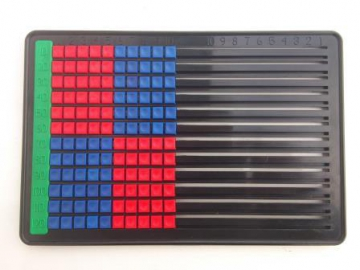 Class set of 30 counting frames up to 120 Red & Blue