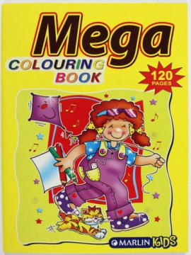 Mega colouring book 120 pages