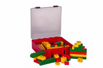 Jumbo Interlocking blocks in Suitcase