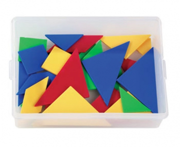 Tangram in a plastic box with lid