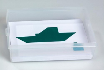 Tangram working cards with box