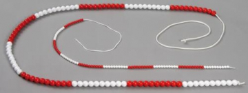 Bead string 100 indiv. red/blue